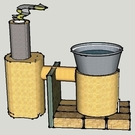 Concrete village stove