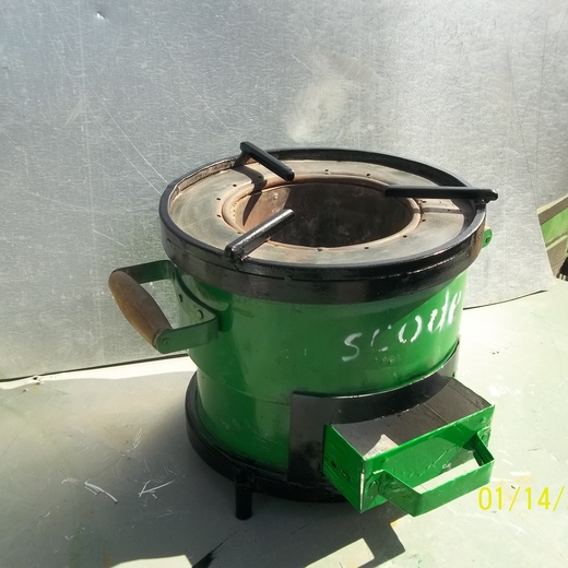 SCODE charcoal stove all metal