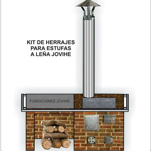 Colombian stove with oven and water heater