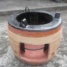 Combined Clay Metal Portable Stove